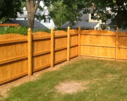 Cedar Privacy Fence Picture